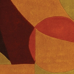 Safavieh Handmade Modern Abstract Burgundy/ Multi Wool Rug (8' x 11') - Thumbnail 1