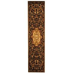 Safavieh Handmade Classic Royal Black/ Beige Wool Runner (2'3 x 8')