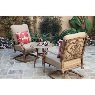 """3 Piece Conversation Set, 24"""" Round End Table with Ice Bucket Insert"""