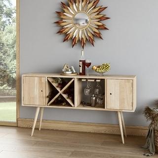 Carson Carrington  Shorewood Mid Century Modern Wood Sideboard with Doors (Natural Finish)