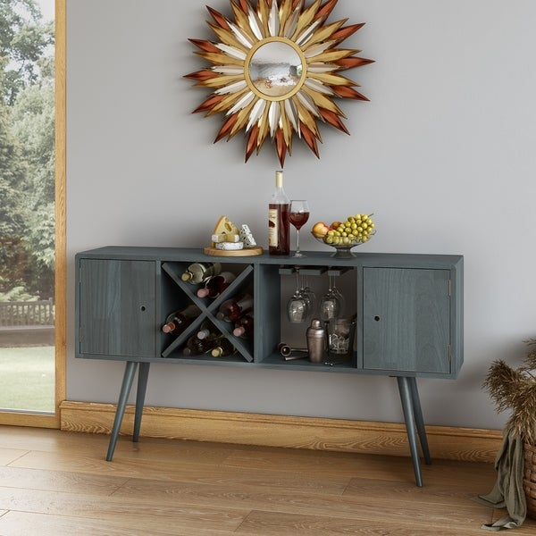 Carson Carrington Shorewood Mid Century Modern Wood Sideboard with Doors. Opens flyout.