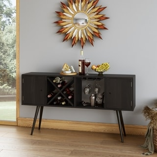 Carson Carrington  Shorewood Mid Century Modern Wood Sideboard with Doors (Brown)