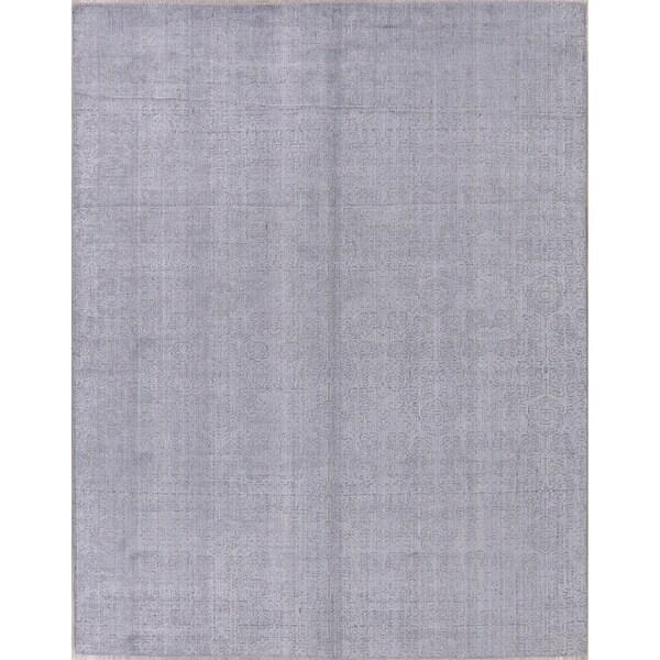 "Silk Transitional Jacquard Oriental Art & Craft Area Rug Handmade - 7'8"" x 9'8"". Opens flyout."
