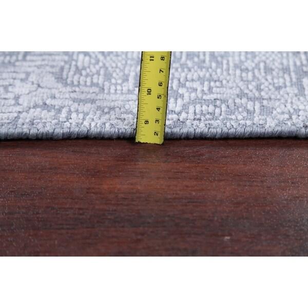 "Silk Transitional Jacquard Oriental Art & Craft Area Rug Handmade - 7'8"" x 9'8"""