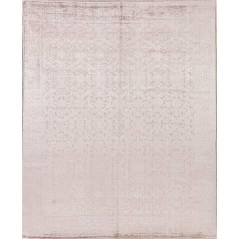 "Silk Transitional Art & Craft Jacquard Oriental Area Rug Handmade - 7'7"" x 9'4"""