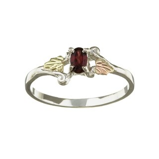 Black Hills Gold and Silver January Birthstone Ring