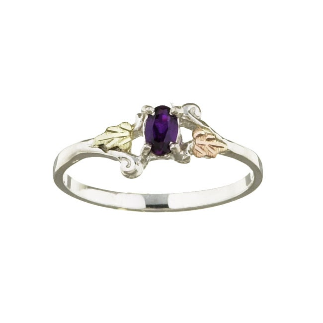 Black Hills Gold and Silver February Birthstone Ring