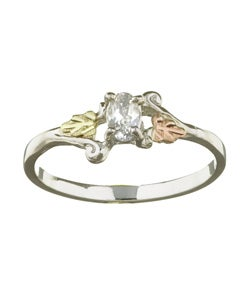 Black Hills Gold and Silver April Birthstone Ring