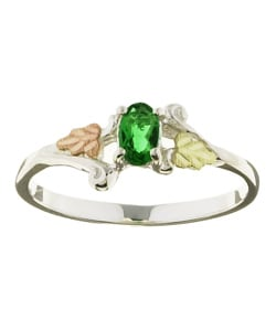 Black Hills Gold and Silver May Birthstone Ring