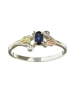 Black Hills Gold and Silver September Birthstone Ring