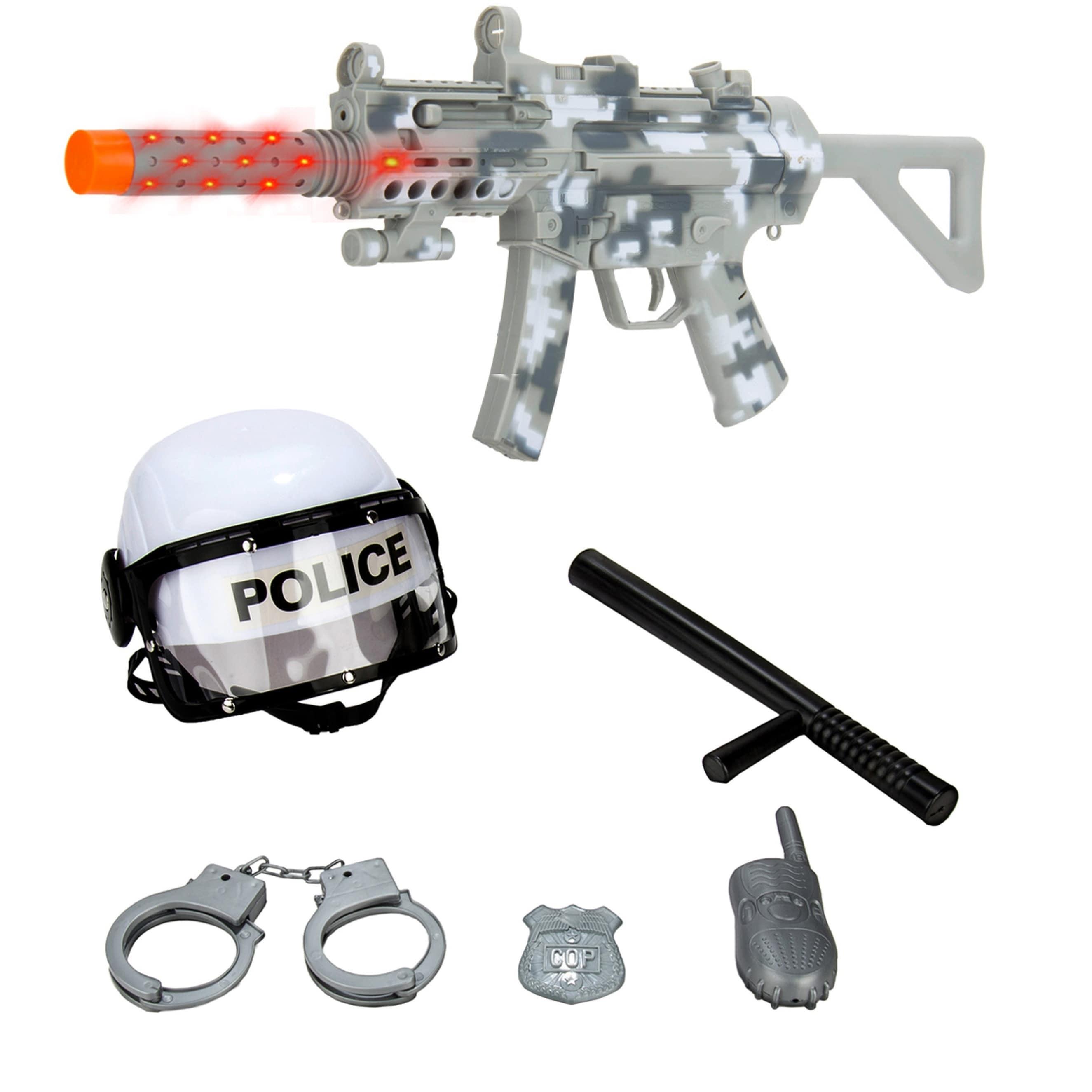 Police Combat Force y Kids Toy Gun Set with Flashing Light Sound