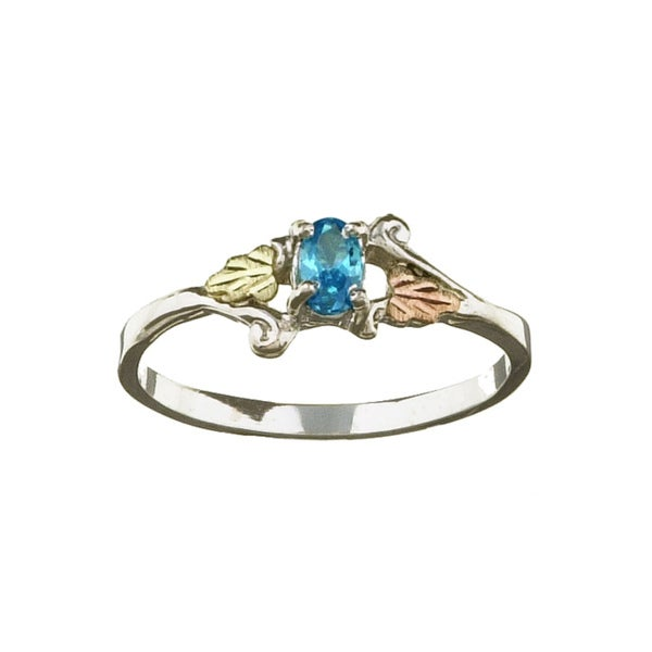 Shop Black Hills Gold And Silver December Birthstone Ring Free