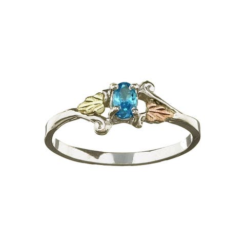 Black Hills Gold and Silver December Birthstone Ring