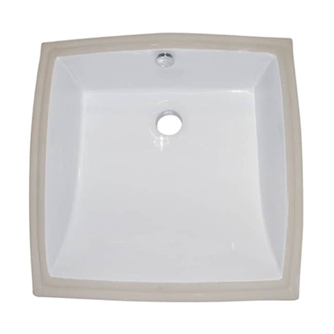 Vitreous China White Undermount Bathroom Sink