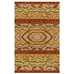 Hand-tufted Yoga Wool Rug - Multi - 5' x 8' - Thumbnail 0