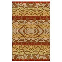 Hand-tufted Yoga Wool Rug - 5' x 8'
