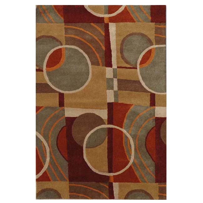 Hand-tufted Nenno Wool Rug (8' x 10'6)