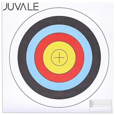 30-Pack Paper Bullseye 5 Ring Shooting Targets for Archery Gun Range, 17.5-Inch