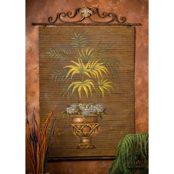 Hand Painted Fern Bamboo Wall Art