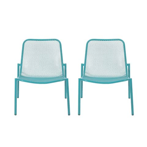 """Bucknell Outdoor Modern Dining Chair (Set of 2) by Christopher Knight Home - 26.00"""" W x 22.25"""" L x 26.00"""" H"""