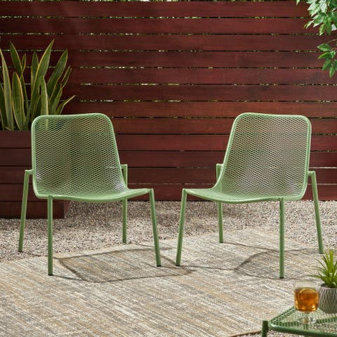 "Bucknell Outdoor Modern Dining Chair (Set of 2) by Christopher Knight Home - 26.00"" W x 22.25"" L x 26.00"" H"