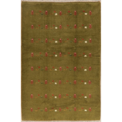 """Gabbeh Tribal Hand Knotted Wool Persian Oriental Area Rug - 7'8"""" x 5'4"""""""