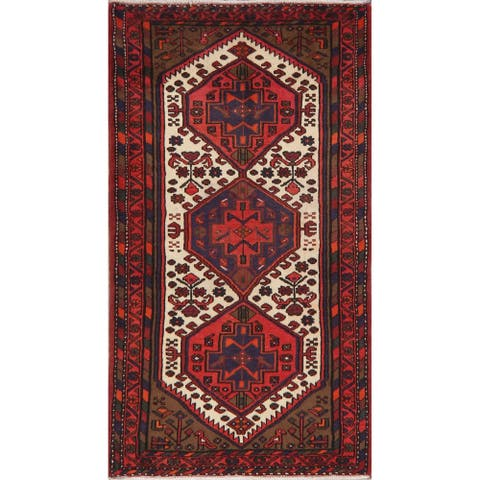 "Hamedan Oriental Hand Knotted Persian Tribal Wool Area Rug - 5'9"" x 3'2"""