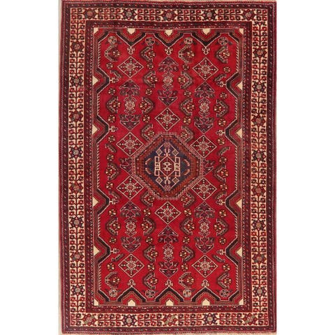 """Abadeh Oriental Hand Knotted Wool Persian Vintage Area Rug - 8'4"""" x 5'5"""""""