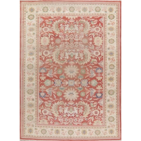 """Vintage Oushak Hand Knotted Egyptian Oriental Wool Area Rug - 12'0"""" x 8'10"""""""