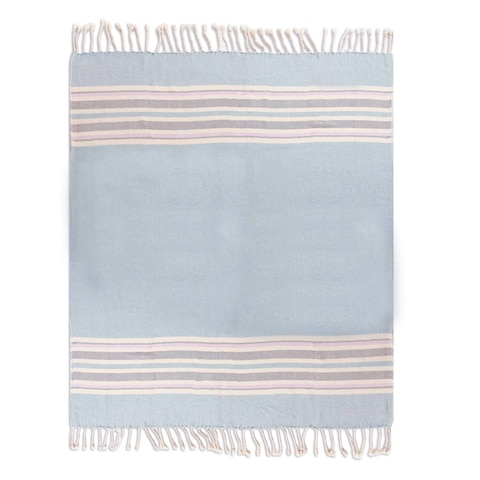 Handmade Sweet Stripes Cotton Throw (Peru)