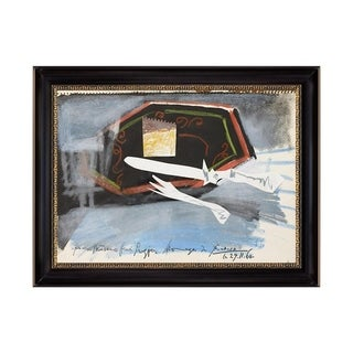 Link to Living Room by Pablo Picasso Black Frame OIl Painting Canvas Print  28 In. x 22 In. Similar Items in Art Prints
