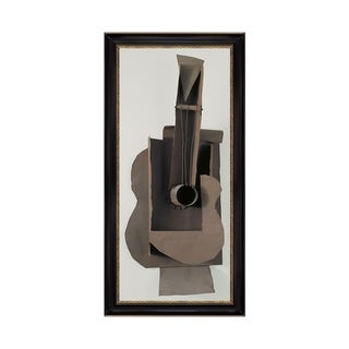 Link to Maquette for Guitar by Pablo Picasso Black Frame OIl Painting Canvas Print  24 In. x 49 In. Similar Items in Art Prints