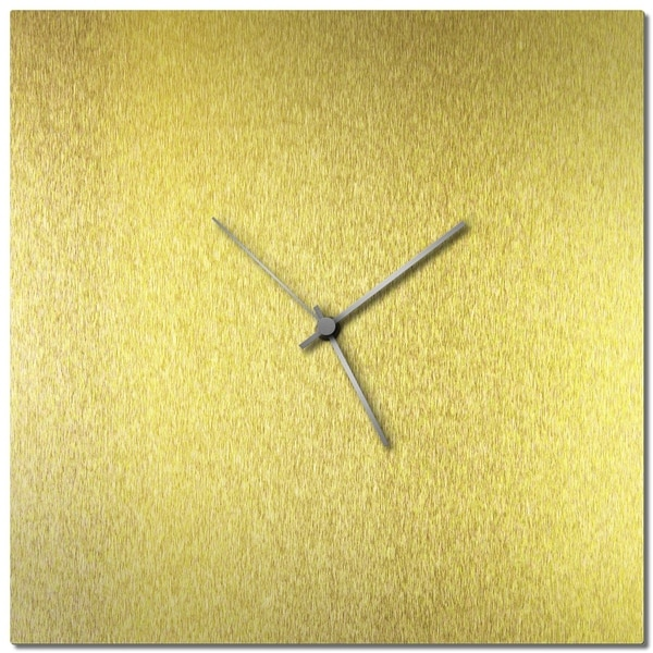 Adam Schwoeppe 'Goldsmith Square Clock Large' Midcentury Modern Style Wall Clock