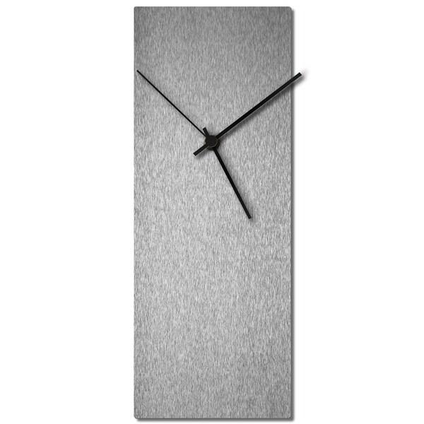 Adam Schwoeppe 'Silversmith Clock' Midcentury Modern Style Wall Clock