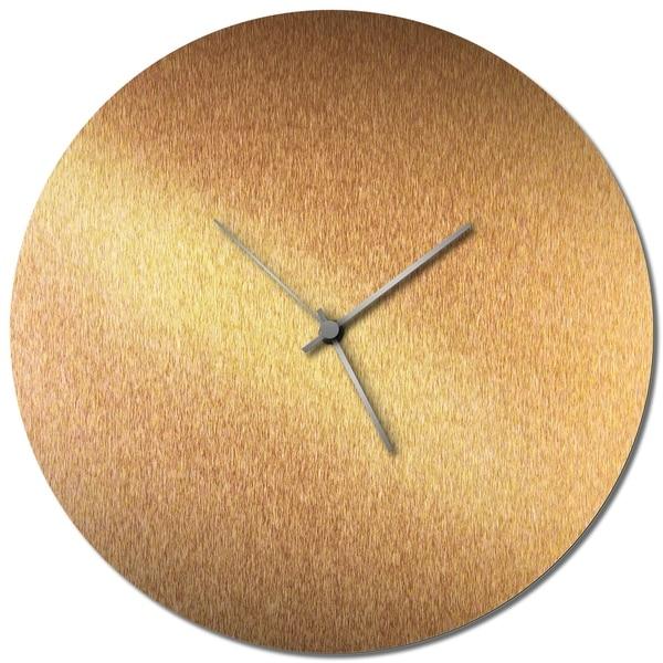Adam Schwoeppe 'Coppersmith Circle Clock Large' Midcentury Modern Style Wall Clock