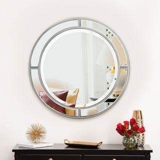 Mirror Trend Round Accent Framed Wall Mirror DM023S-30 Dia 30''