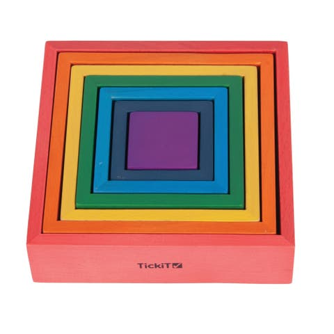 TickiT Wooden Rainbow Architect Squares