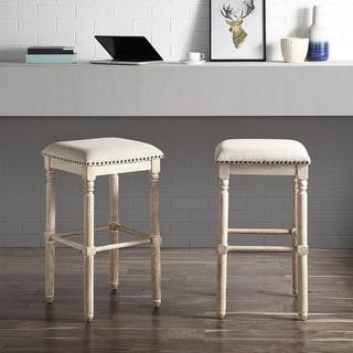 Link to Arnhem Wood Upholstered Swivel Bar Stools, Set of 2 Similar Items in Dining Room & Bar Furniture