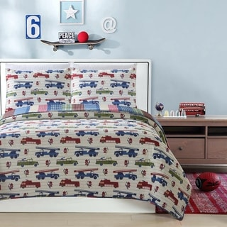 Link to Mari & Mac- Firetrucks Reversible Kids Quilt Set Similar Items in Kids Quilts & Coverlets