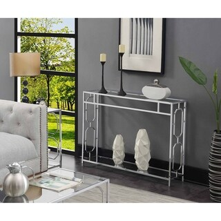 Silver Orchid Omega Chrome Console Table