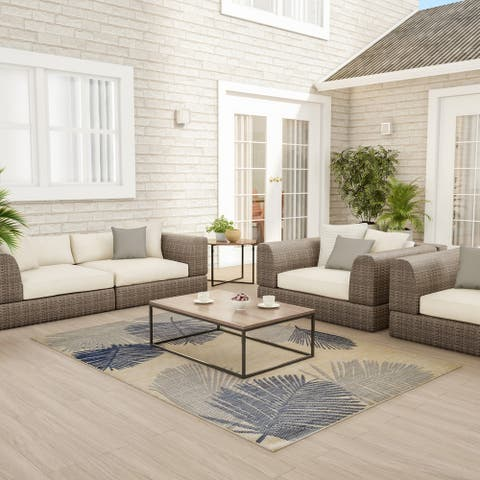 Tropical Palm Indoor/Outdoor Area Rug by Windsor Home - 5 x 7