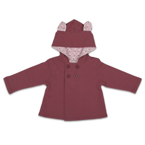 Happy Hippie Jacket, Solid w/ Bunny Ears, 3-6 Months by The Peanutshell
