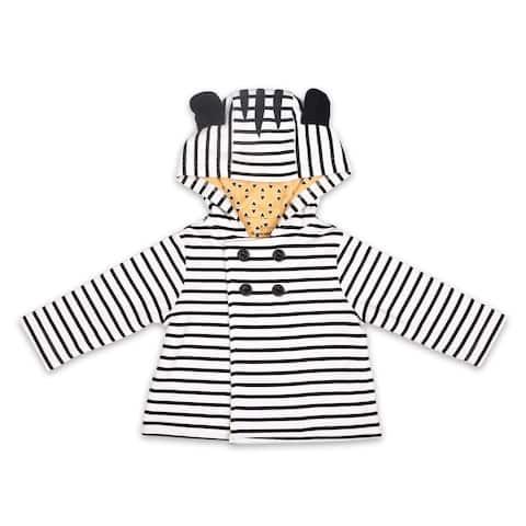 The Peanutshell Black and White Zebra Jacket, Newborn