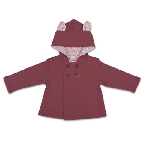Happy Hippie Jacket, Solid w/ Bunny Ears, 0-3 Months by The Peanutshell