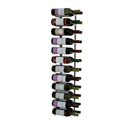 Revue Series 4 Ft, Double Deep, Silver Wine Rack
