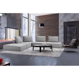 Divani Casa Nolden Modern Grey Fabric Sectional Sofa