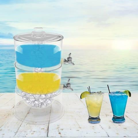 2-Tier Beverage Dispenser by Classic Cuisine - 12 x 10 x 15.5