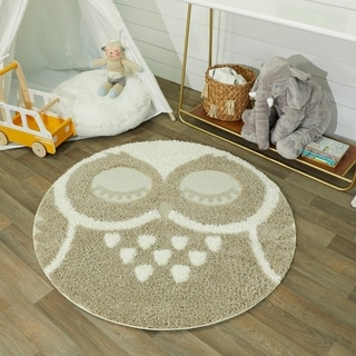 Taylor & Olive Owl Shag Round Accent Rug