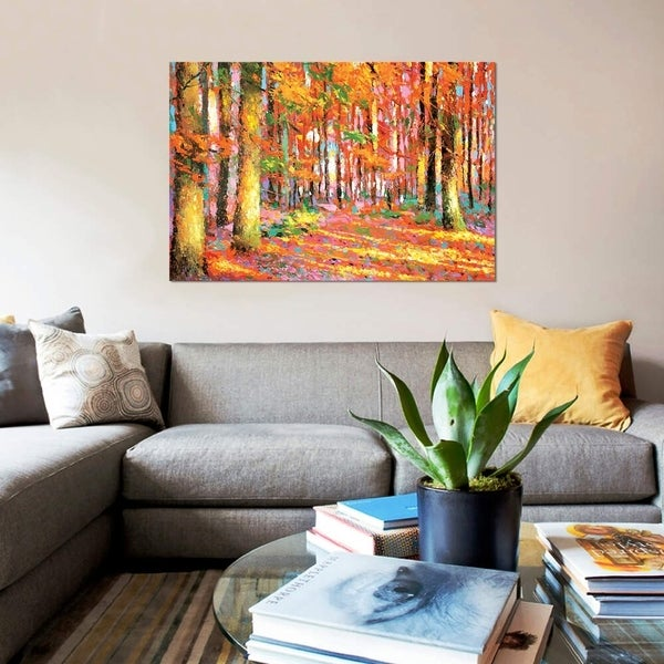 """iCanvas """"Golden Autumn II"""" by Dmitry Spiros Gallery-Wrapped Canvas Print"""
