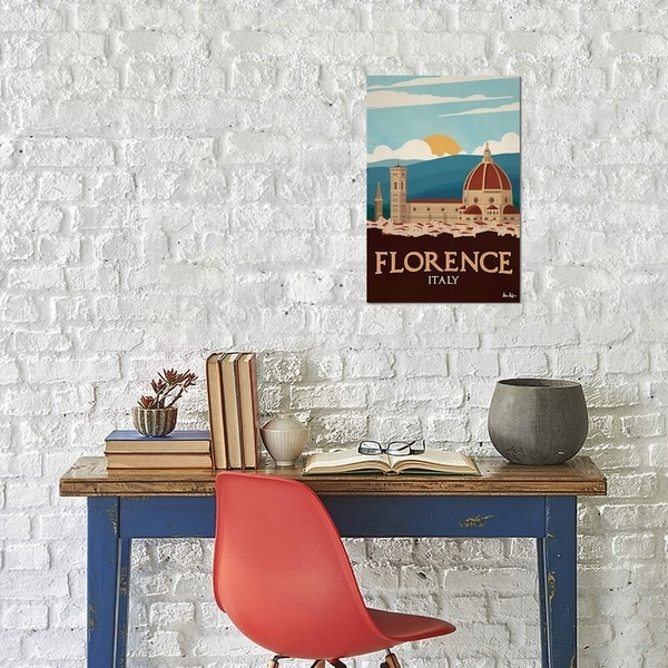 """iCanvas """"Florence"""" by IdeaStorm Studios Gallery-Wrapped Canvas Print"""